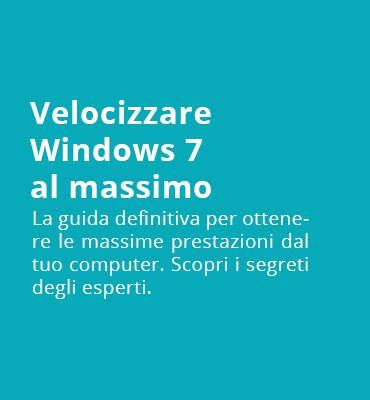 velocizzare windows 7