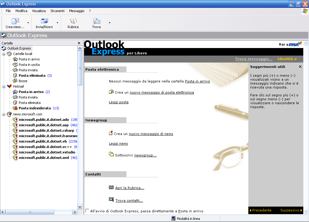 Outlook Express su Windows 7, ecco come