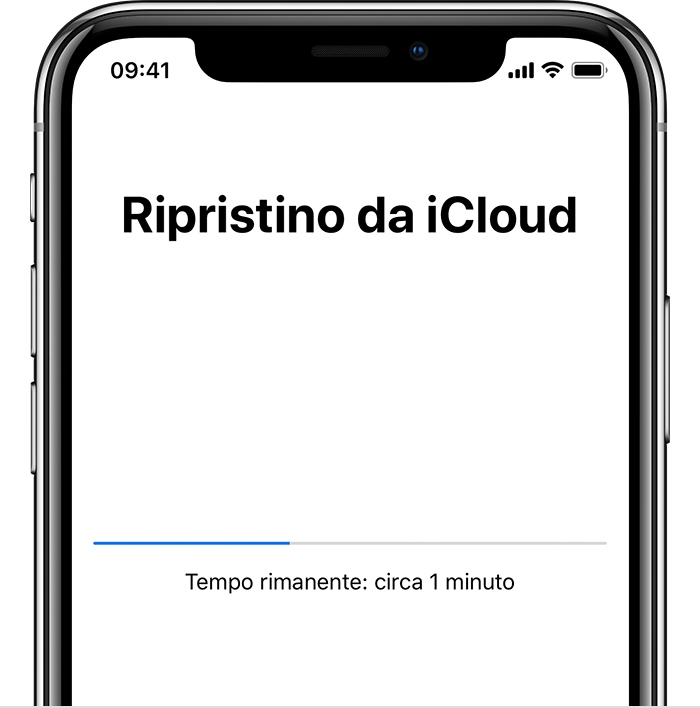 ripristini iphone